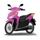 pink motorcycle vector design
