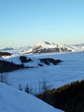Mountains, snow, alps, panorama