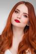 Leinwanddruck Bild - Woman with long ginger hair