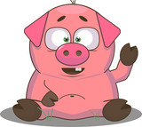 The Fat Little Pig. Chinese New Year. The year of the pig.
