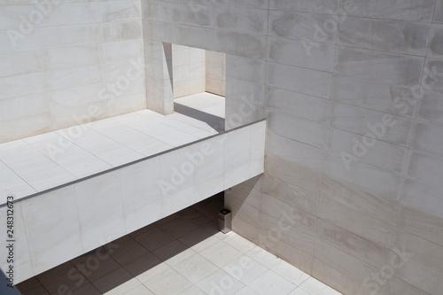 fototapeta na ścianę White minimalist architecture of cultural center CaixaForum in Barcelona