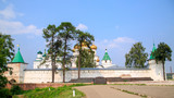 Fortress wall and temples of Ipatiev Monastery, Kostroma, Russia