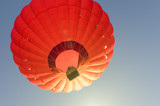 Colorful hot air balloon against the blue sky - 248334693