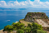 View of Corfu old fortress, Greece - 248337645