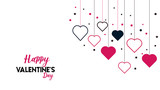 Valentine's Day Hearts Background - 248340205