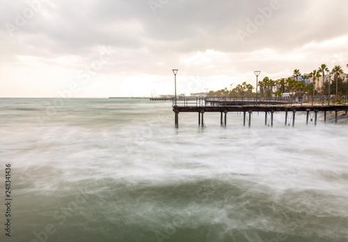 pier in Limassol, Cyprus, long exposure © stasknop