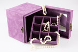 jewel pink box with white pearl necklace bracelet