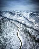 Aerial Samobor Winter Croatia nature woodland hills