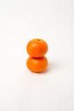 Deux mandarines superposée