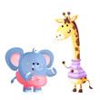 elefante y jirafa para bebes