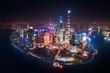 Quadro Shanghai Pudong aerial night view