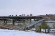 Double Bridge Over The River