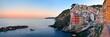 Leinwanddruck Bild - Riomaggiore waterfront panorama view