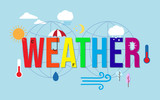 Weather condition and meteorological forecast icons - 248410677