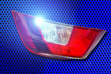 Car tail lights isolated on white background.