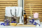 Spa and health care concept, relax wih body scrubb.