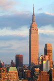 Empire State Building with New York City Manhattan skyline and skyscrapers at dusk. - 248426441
