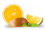 frische Schokoladen Apfelsine, isoliert auf weißem Hintergrund
