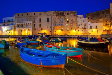 Old port of Monopoli province of Bari, region of Apulia, southern Italy. Boats in the marina of Monopoli. © Vladimir Sazonov