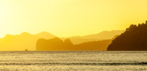 Golden Hour at the El Nido Bay, Palawan
