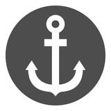 Anchor sign. Vector icon.