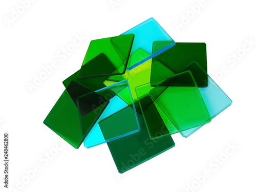 Glass squares on white background - 248462800