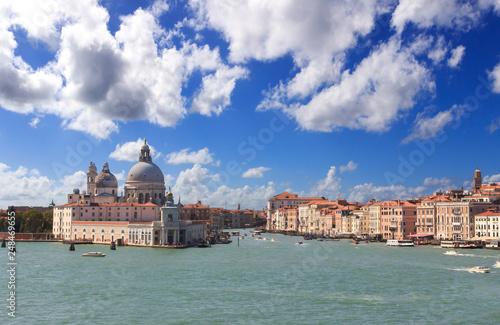 Grand canal in Venice. View at Basilica Santa Maria della Salute