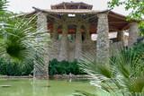 Japanease tea garden built with stones