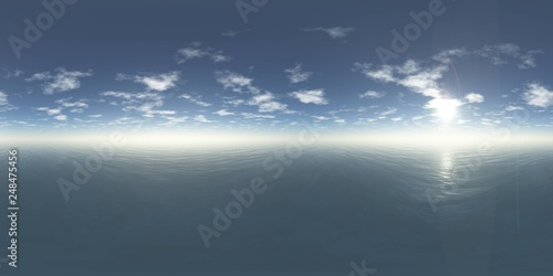 HDRI, environment map , Round panorama, spherical panorama, equidistant projection, panorama 360, seascape