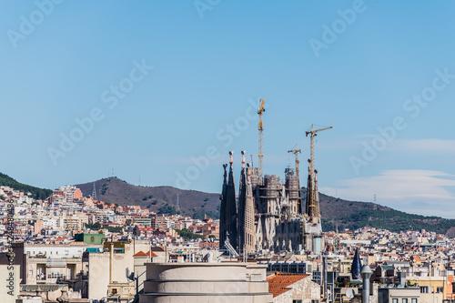 Vue sur la Sagrada Familia de Gaudi, Barcelone - 248480486