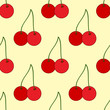 Bright seamless pattern with cherries. - 248483293