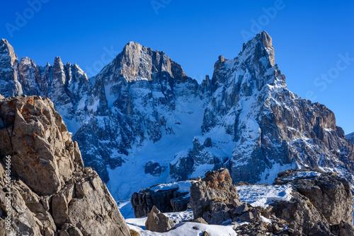 Passo Rolle, Pale di San Martino mountain, Trentino Alto Adige region, Dolomites Alps, Italy, Europe