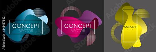Super trendy covers design. Futuristic patterns. Colorful modernism. Minimal geometric shapes composition.  - 248487862