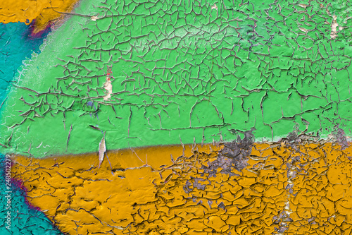 Graffiti painted on a concrete wall texture. - 248502279