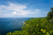 Scenic Overlook of the coast of Lake Michigan at Peninsula State Park, Wisconsin.