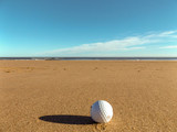 golf ball on the beach