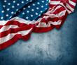 Quadro American flag on blue