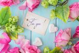 floral frame ang gift tag