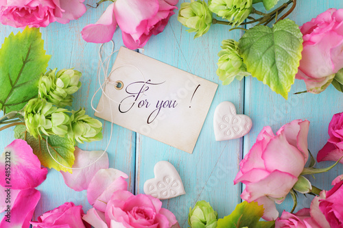 floral frame ang gift tag - 248523212