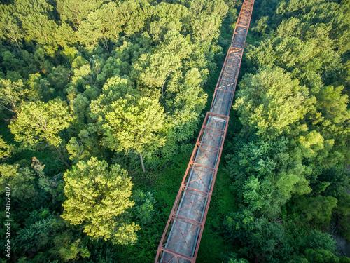 Old bridge aerial view