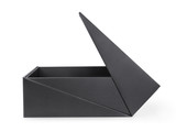 Open large black box isolated with clipping path - 248525486