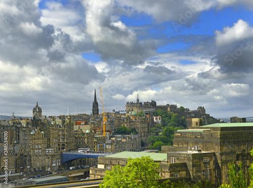 fototapeta na ścianę Roofs of the Old Town Edinburgh in Scotland. Edinburgh is UNESCO World Heritage Site