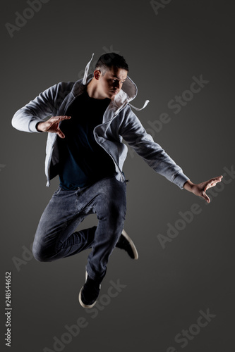 hip hop dancer jumping - 248544652
