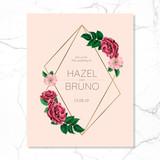 Wedding invitation floral frame design