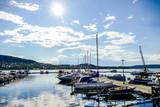 yachts in harbor, in Norway Scandinavia North Europe - 248576064