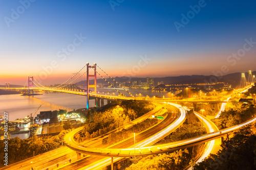 fototapeta na ścianę Hong Kong Tsing Ma Bridge