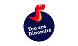 Dinomite Dinosaur Pun Poster Design