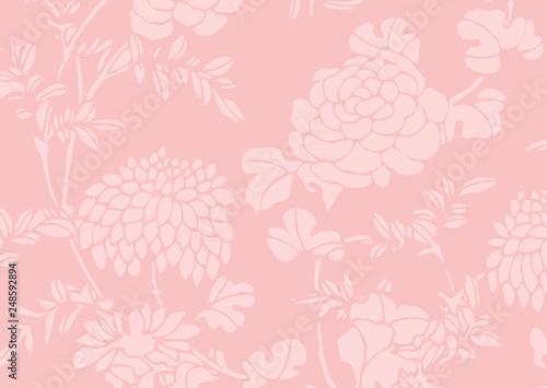 pink gradient Asian flower textured background - 248592894