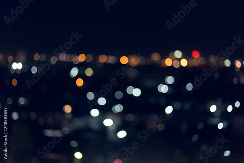 colorful night light in the city, image blur nightlife background - 248593657