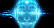Leinwandbild Motiv Robotic man cyborg face representing artificial intelligence 3D rendering